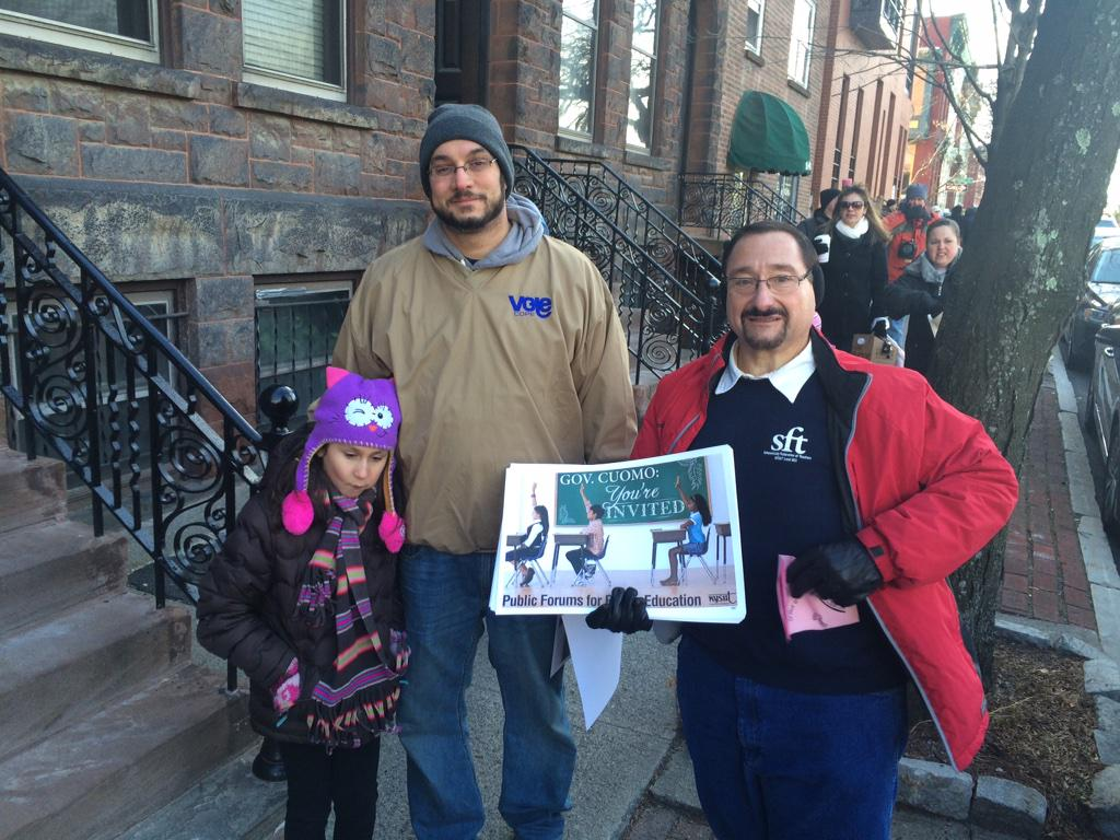 #Schenectady's in the house!! #CallOutCuomo because on education, #CluelessCuomo has no idea!  Come see our schools! http://t.co/KBmKXgMYbJ