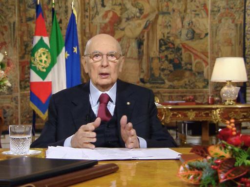 Il saluto agli italiani di Giorgio Napolitano