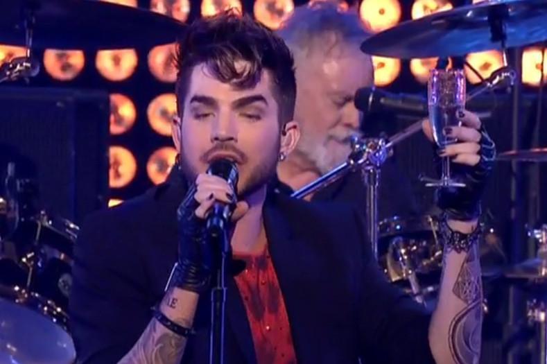 A toast from Adam Lambert! http://t.co/pNyz1kA3EE