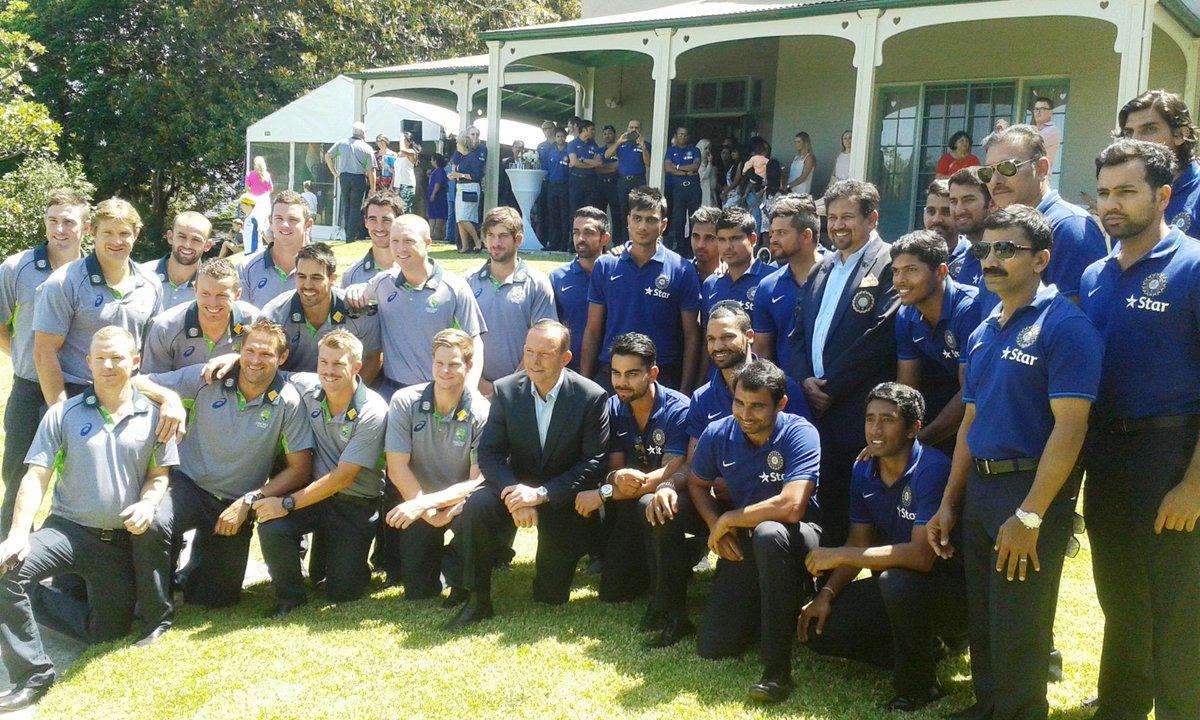 ऑस्ट्रेलियाई पी.एम के साथ भारतीय टीम की फोटो शूट में हिस्सा नहीं लिए धोनी 1