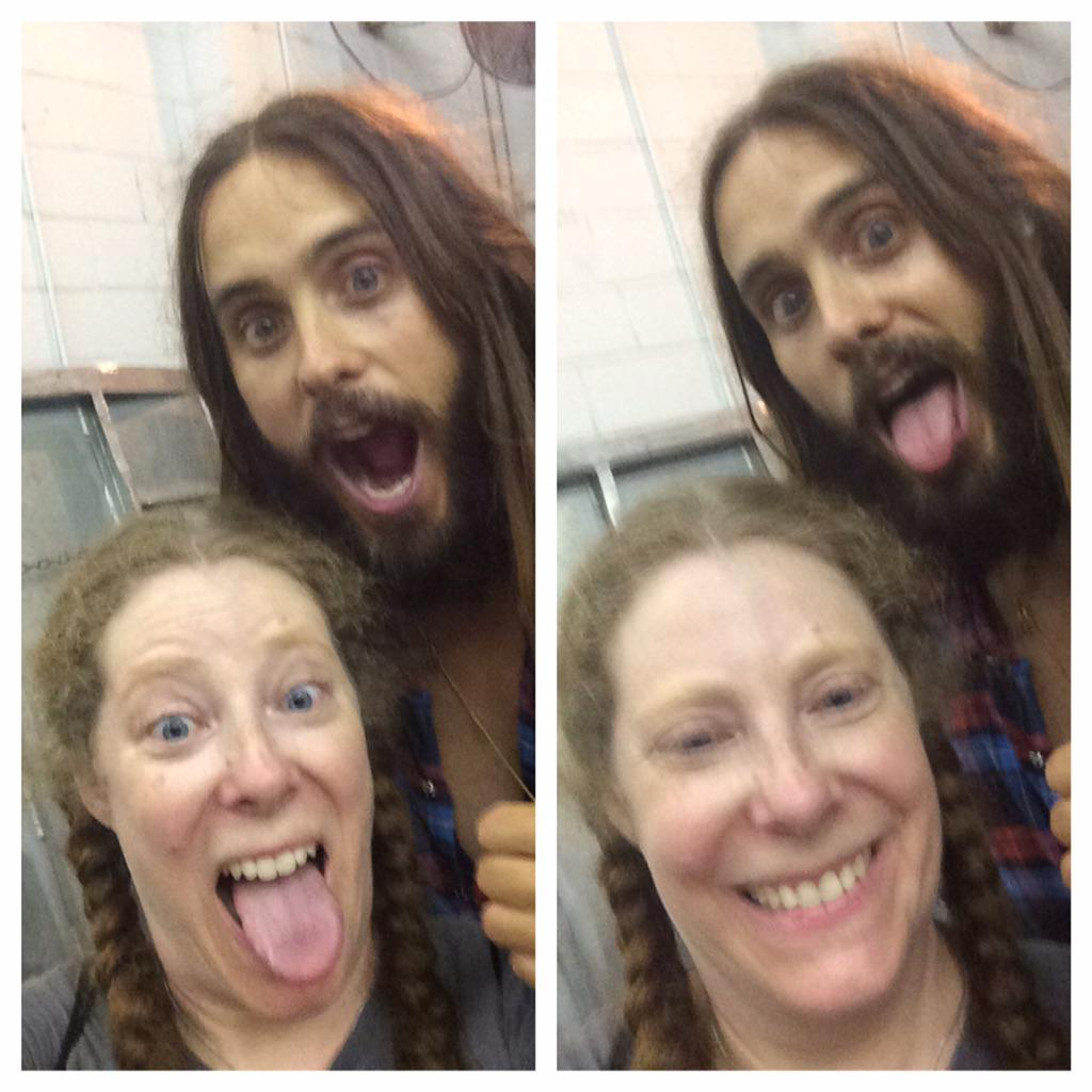 A favorite moment of 2014: selfie w @JaredLeto ! Also: swooping in for a hug at @ArtifactTheFilm! http://t.co/tUdCddzzGU