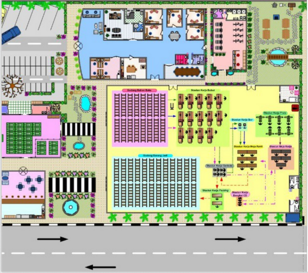 Microsoft visio on twitter this factory layout from for Warehouse layout software free