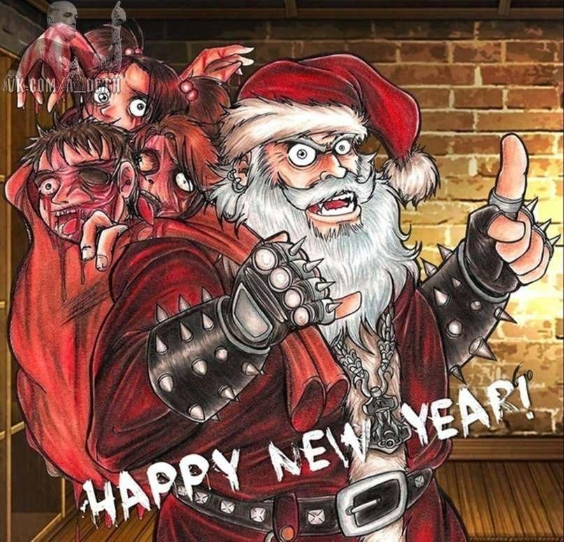 Готические открытки с новым годом, днем иоанна