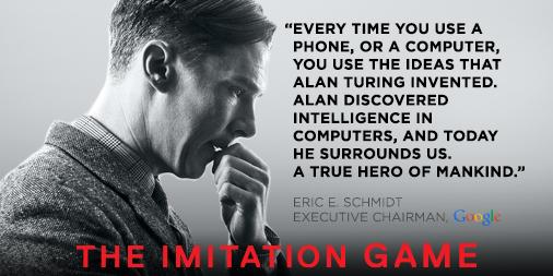 Every time you use a phone, or a computer, you use the ideas that Alan Turing invented. A hero. http://t.co/dwbHXRBuYQ