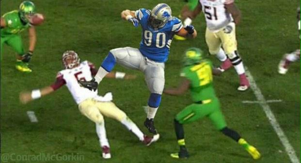 "Funny meme ""@Packers_Stuff: Ndamukong Suh was at it again in Pasadena today. http://t.co/Pu1THdSTZL"""