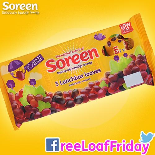 First #FreeLoafFriday of the year! Make sure you're snacking on Soreen in 2015. RT to #win a hamper of Soreen! http://t.co/Y0vn49fmTK