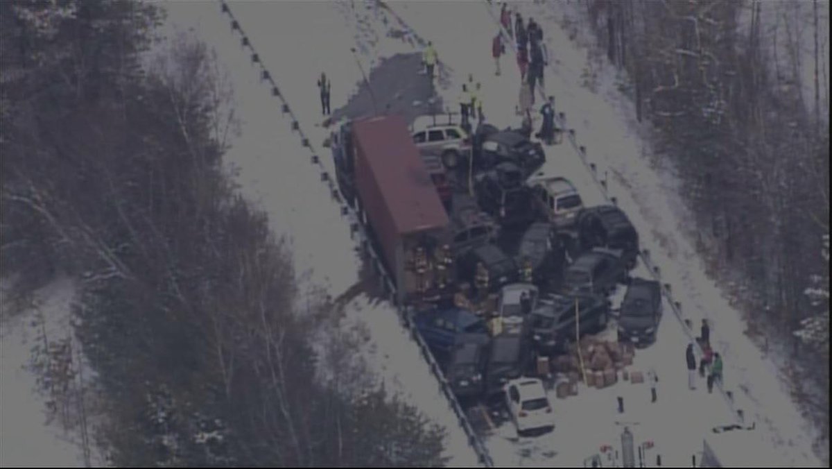 Thumbnail for Pileup I-93 Near Ashland, New Hampshire
