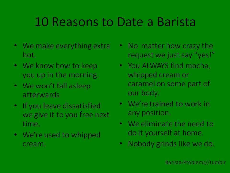 Dating barista