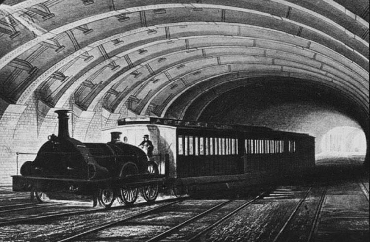 RT @SkintLondon: The tube is 152 years old today!  It all started in 1863 at Paddington. http://t.co/mDt9IwNlMh  '@inpaddington