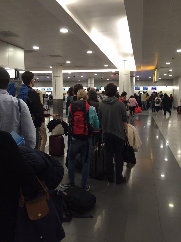 No joke, this is the line for @British_Airways customer service at #LHR T3. Starting to get why people loathe LHR... http://t.co/ukOasQG4dQ