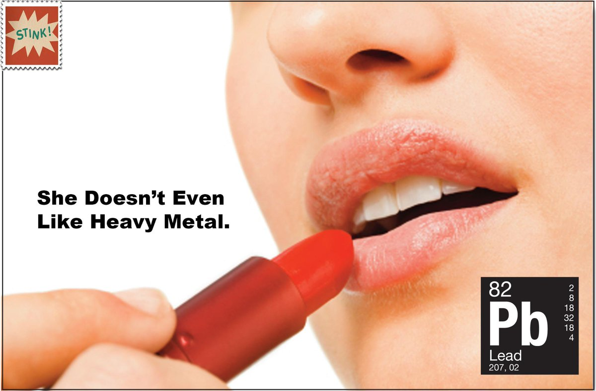 Lead was phased out of gasoline in the '90s but it's still on your lips. #lead #lipstick #beauty #chemicals http://t.co/XhTvQtABfr