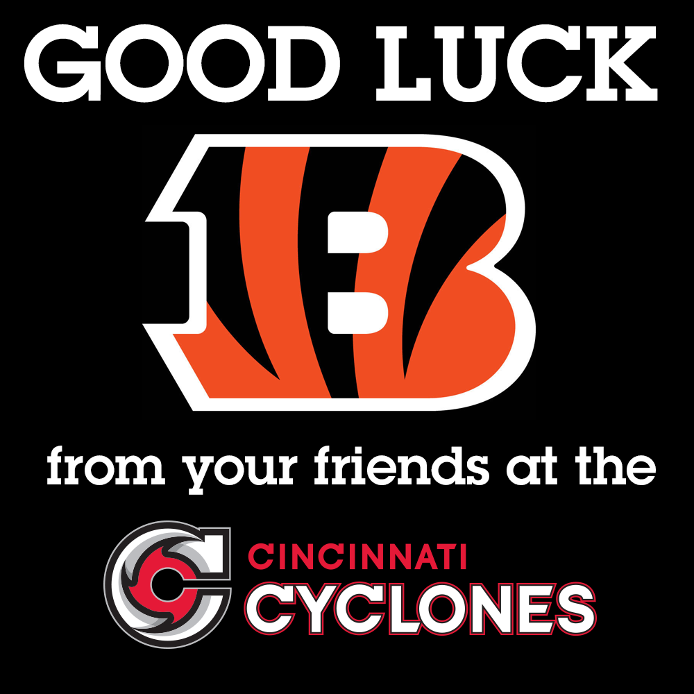 Good luck to our neighbors, the @Bengals, as they battle for a playoff win today in Indy! #WhoDey #TeamCincinnati http://t.co/eEEvkTLVqm
