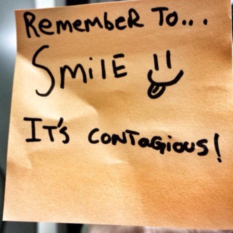"the phenomenon of contagious smiling Facial mimicry might also help to explain the phenomenon of contagious smiling may help us else might feel,"" professor bitsika tells the new daily."