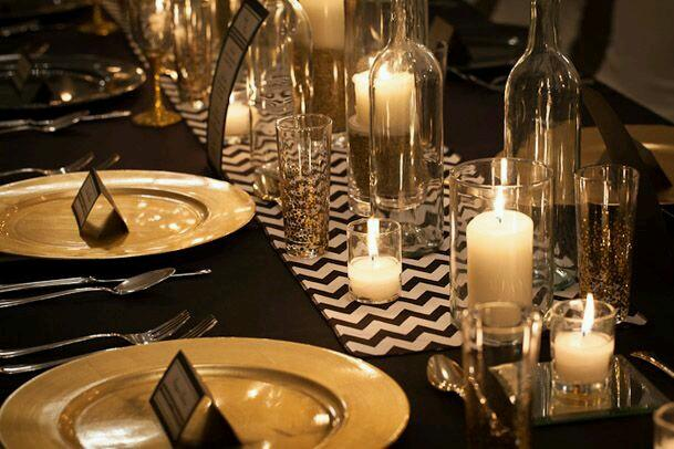 Black And Gold Table Setting Loris Decoration : black and gold table settings - Pezcame.Com