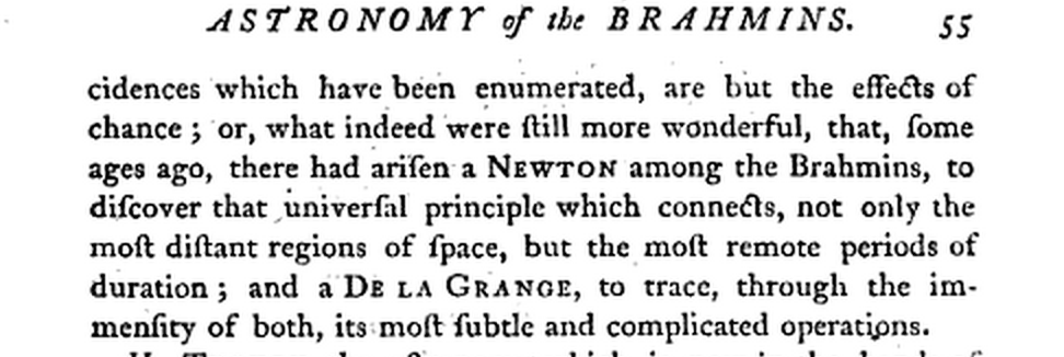 "John Playfair talks about ""has arisen a Newton among the Brahmins."" in the 18th century. http://t.co/PczdrIqvCU"