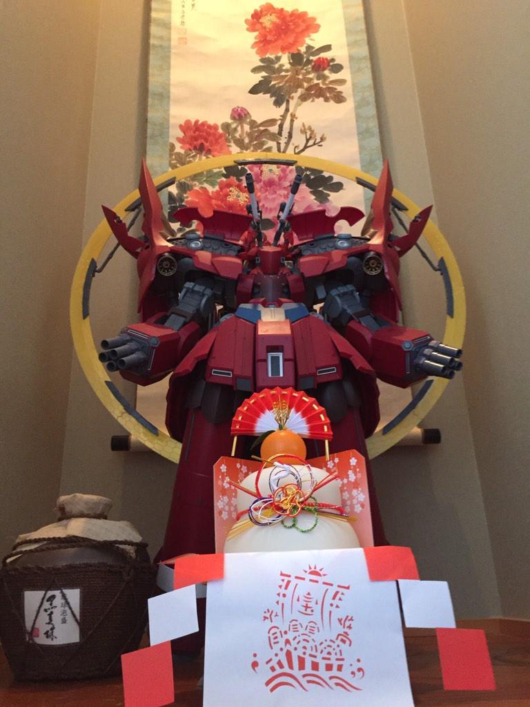 謹賀新年‼️ネオジオングにサイコシャード付けたら部屋に飾れなくなったので、床の間に飾った。違和感が仕事しない(笑) pic.twitter.com/POQjn83zQr
