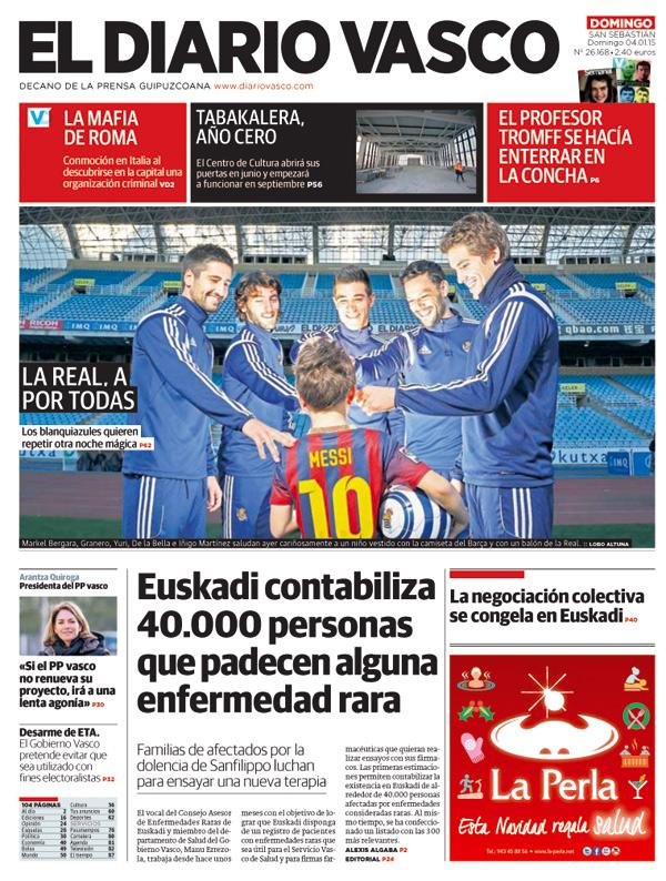 Cheeky! A Spanish paper bills Real Sociedad v Barcelona as