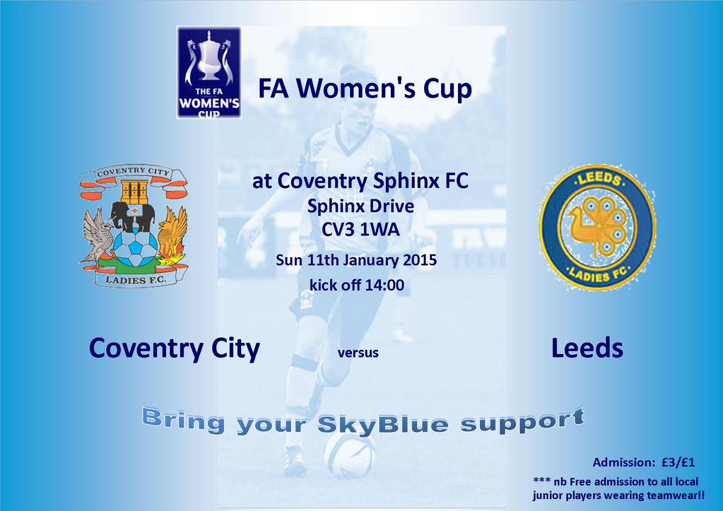 city ladies face leeds in fa cup coventry mad. Black Bedroom Furniture Sets. Home Design Ideas