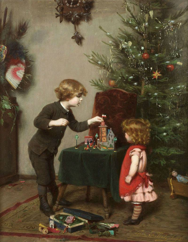 Картинка художников рождество, днем