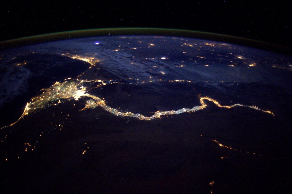 """A sparkling #Nile river valley and delta #Egypt … fabulous!"" #AstroButch http://t.co/rz7ho3QCJv"