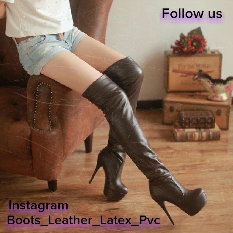 Something also pvc thigh boot fetish
