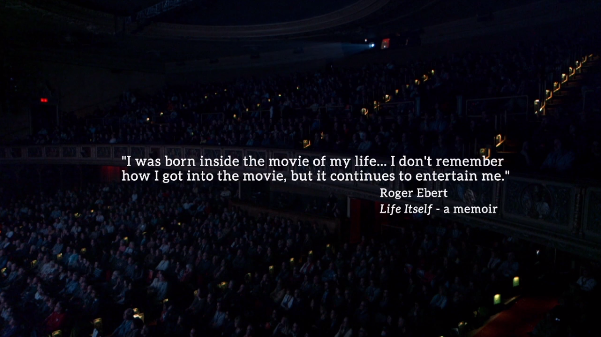 """I was born inside the movie of my life…"" - @ebertchicago. #LifeItself now on @CNN! http://t.co/Ogbo2aEYSP"