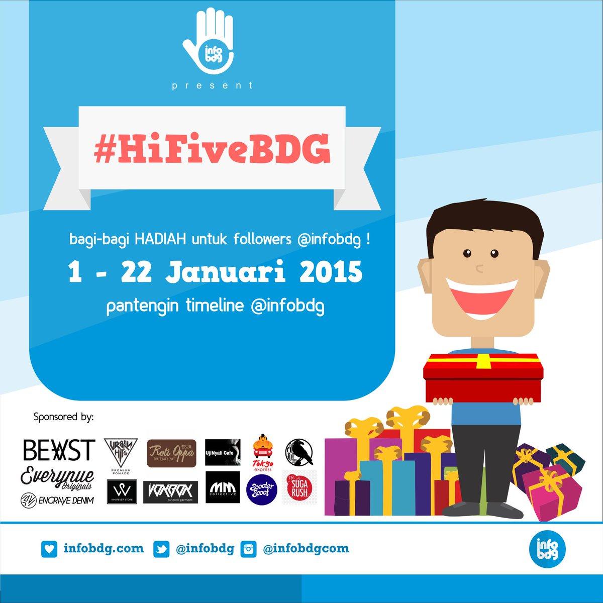 Taruwit, mau dapetin hadiah dari @facuration & @Sugarush_bdg? siap-siap ikutan #HiFiveBDG http://t.co/DdUToyEqne