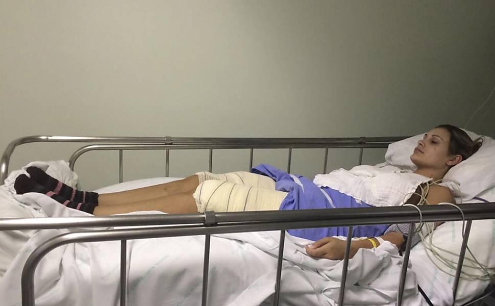 Andressa Urach após cirurgia