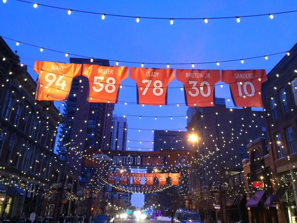 """Denver's Larimer Square """"United In Orange""""! http://t.co/oL8MUFKLUc"""