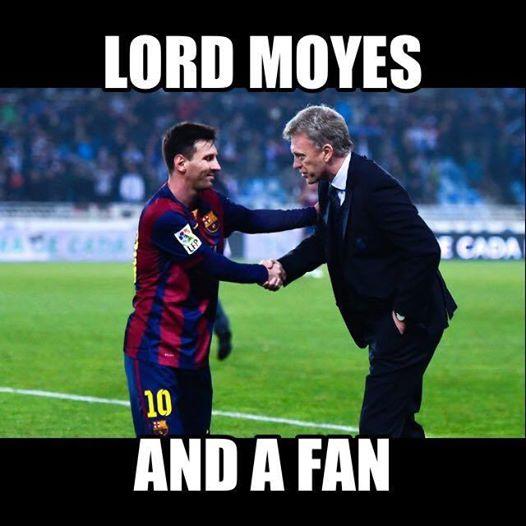 Moyes fan Messi