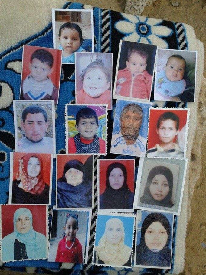 Mohammed's photo collection of 17 of the 21 Najjar family members who were crushed to death in their home. #pt http://t.co/IVR94IHEZs