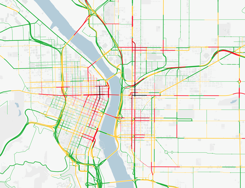 Doug Mccune On Twitter Second Try At My Portland Drunk Traffic Map