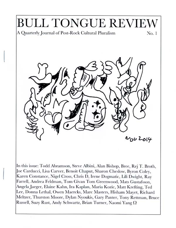 Arthur column BULL TONGUE returns as a quarterly pub edited by BYRON COLEY! 1st ish out. * http://t.co/flC7uLFoeV … http://t.co/Ff7ySEQjT4