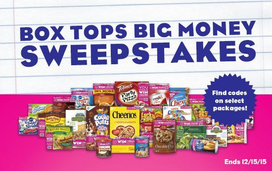 Box tops big money sweepstakes