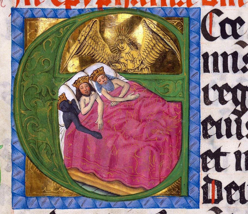 Imatge -molt desconcertant- dels Reis d'Orient al Missal de Salzburg, (Regensburg ca. 1478-1489). http://t.co/deWJjjFuL8