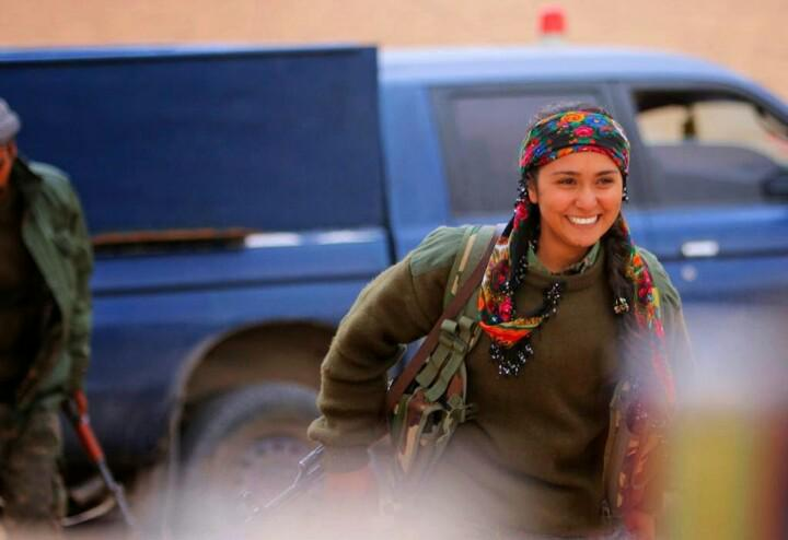 Kurdish PYD fighter