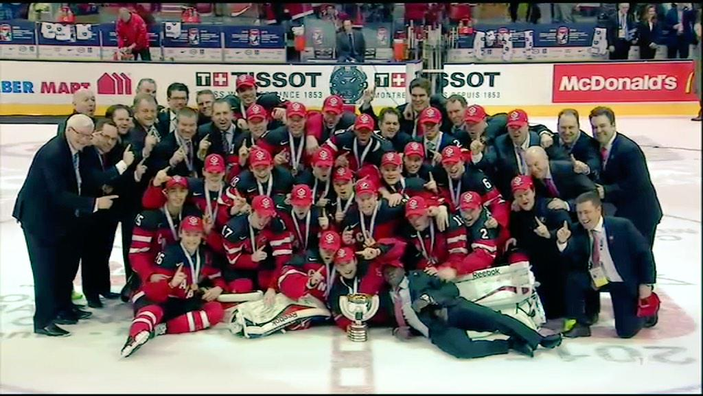 "TSN Hockey on Twitter: ""Team Canada. #WJC2015. #HereWeGo http://t.co/dLoJ3hVVHT"""