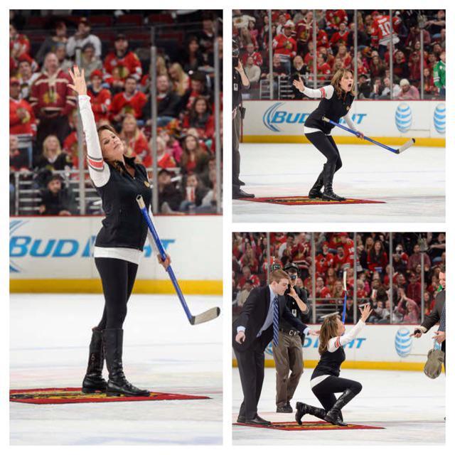 .@NancyLeeGrahn shooting the puck http://t.co/kYMATcIDTL