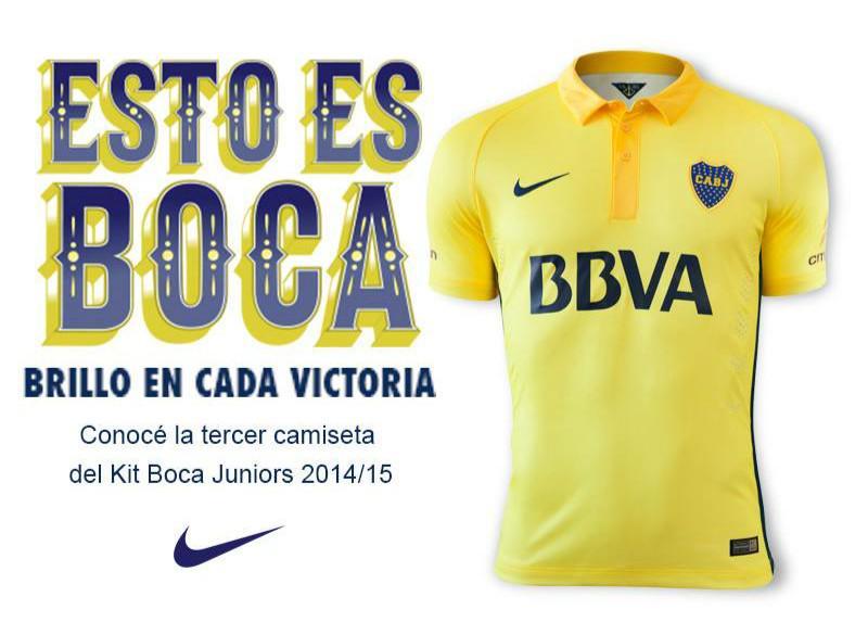 59d90c7ddb3e6 ... Boca Juniors Segunda 2015 2016 - Nueva ... Nueva Nike camiseta del.  Football Fashion on Twitter