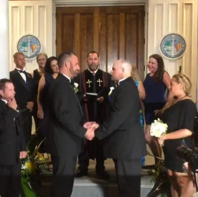 By the power invested in me by the state of #Florida! What an amazing day! #FLMarriage http://t.co/cHpkaZHNy0