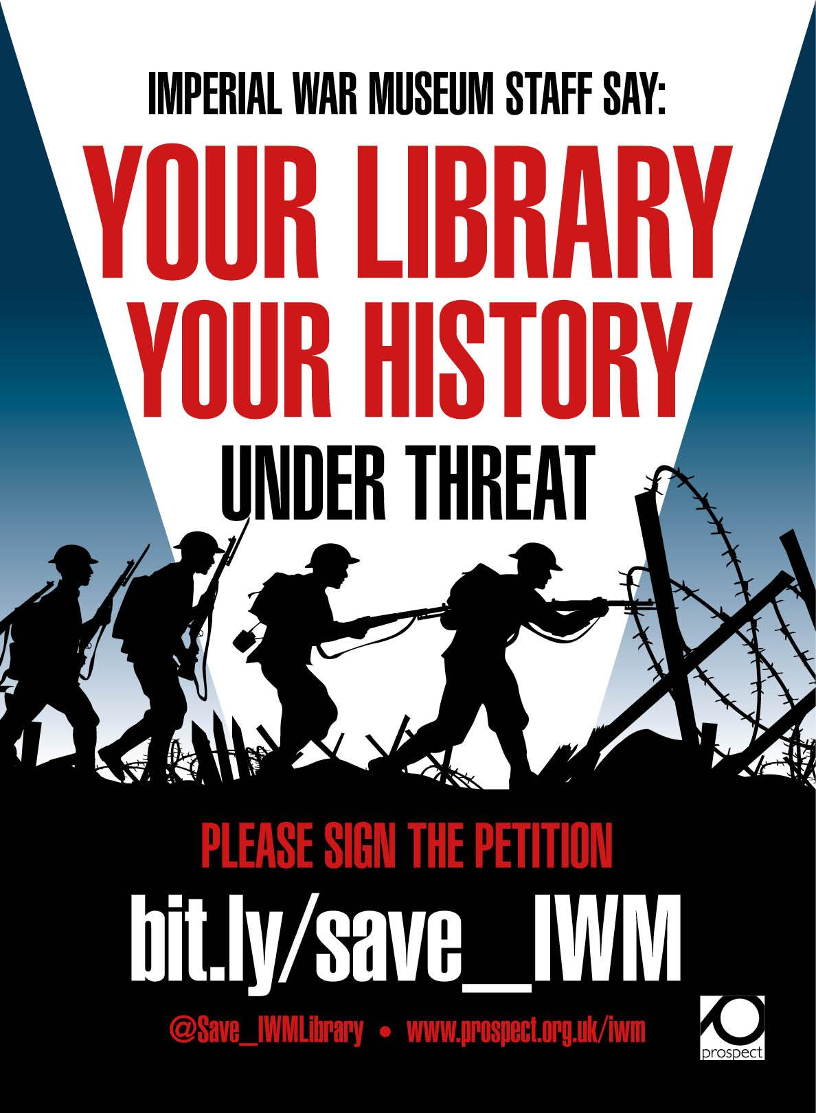 Poster campaign against IWM library cuts
