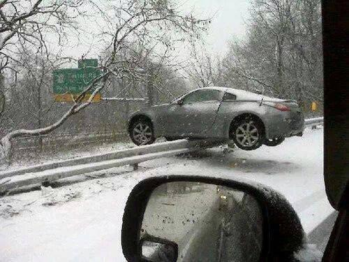 *refluffs pillow* RT @henz0: Prime example of why I avoid driving in the snow.. This could've been me http://t.co/ZBEy2lQsWJ