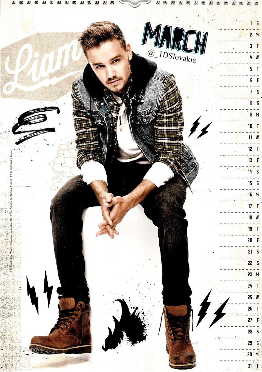 Calendário One Direction 2015 março.