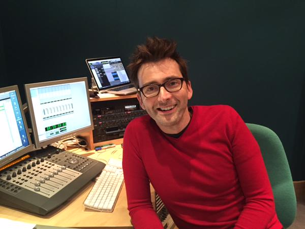 David Tennant recording the narration for Pets Wild At Heart today