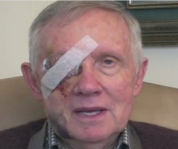 Crunchy, blind Harry Reid mocks defunding Planned Parenthood