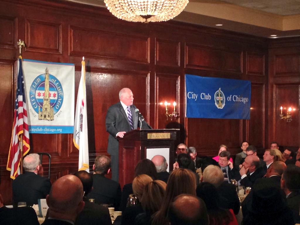 An honor to speak at @CityClubChicago, laying out the progress we've made together over the past six years. http://t.co/57HWjPuxGJ