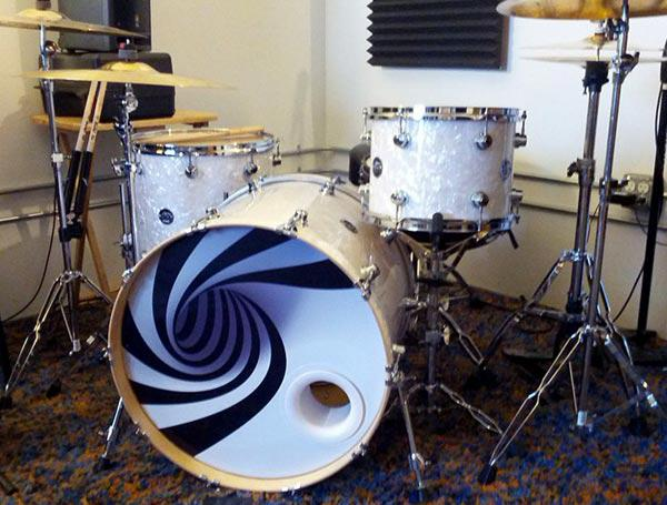 kickport on twitter do you use custom bass drum resonant heads or stock check out this cool. Black Bedroom Furniture Sets. Home Design Ideas