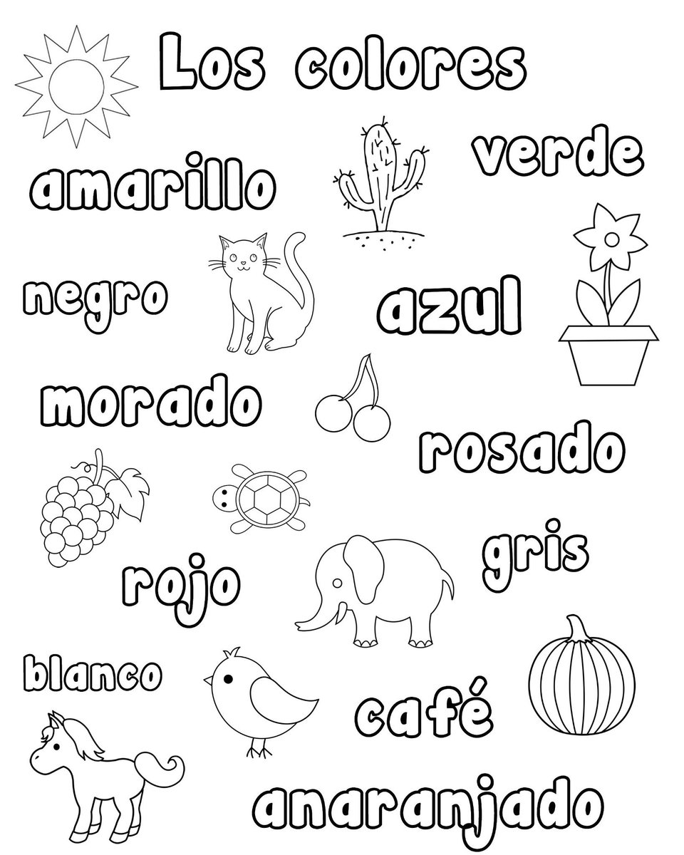 spanish playground on twitter spanish color word printables for speaking simple reading. Black Bedroom Furniture Sets. Home Design Ideas