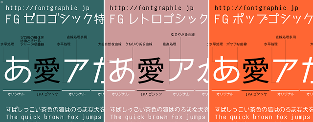 【日本語フォント】無料ダウンロードOK!個性的な書体が揃う「Fontgraphic」 (57 users)