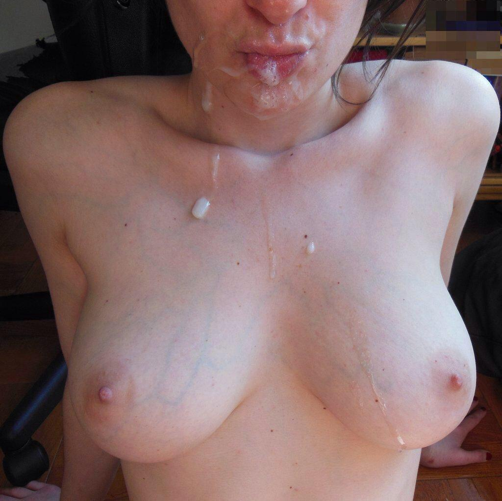 amateur cum boobs